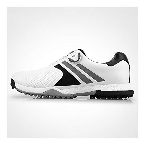 Men's Golf Shoes, Cricket Shoes Men's Rubber Non-Slip Spikes, Herren Golfschuhe, Cricket Schuhe Herren Hockeyschuhe, Golfschuhe,Grau,40