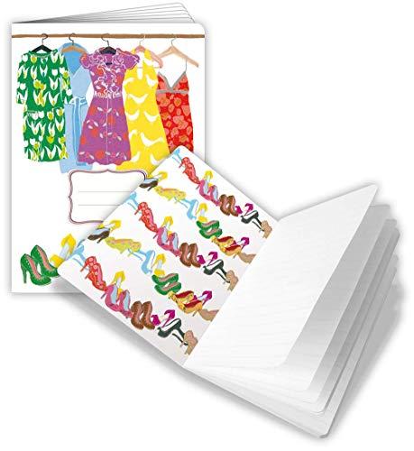 Quire Splendid Notes A5 Notebook - Zomer Jurk Ontwerp - 48 pagina's - Grootte 150mm x 210mm
