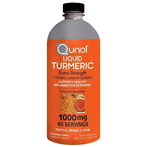 Qunol Liquid Turmeric Curcumin with Black Pepper 1000 Milligram, Supports Healthy Inflammation Response and Joint Support, Dietary Supplement, Extra Strength, 40 Servings, 20.3 fl oz (pack of 1)