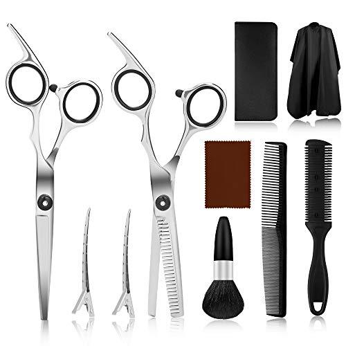 Haarschere Set, Haarschneideschere, Premium Scharfe Friseurscheren, Scheren-Sets Licht Friseurscheren mit Einseitiger Mikroverzahnung, Perfekter Profi Effilierschere für Damen, Herren und Kinder