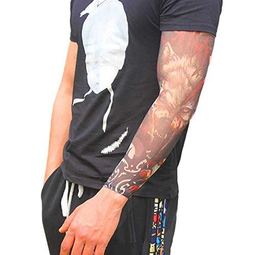 Tfsg Armlinge EIS Seide Tattoo Ärmel Mode Nylon gefälschte temporäre Tattoo Ärmel Arm Strümpfe Halloween Tattoo weich für Männer Frauen @ TH