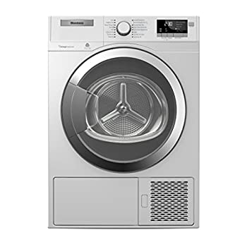 Blomberg DHP24412W 24  Ventless Heat Pump Front Load Electric Dryer with 4.1 cu ft Capacity Bi-Directional Drum Action Aquawave Drum Delay Time and Child Lock in white