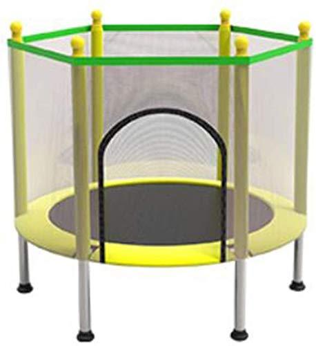 MUZIDP Trampolín con Red de gabinete, niños en Interiores Fitness Trampoline Mini Trampoline Ejercicio Trampoline Spring Pad Rebounder Ayuda a los niños a Crecer y Jugar (Size : 43in/110cm)