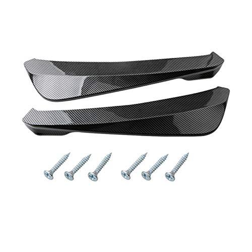Zhang Asia Universal Car Trasero Parachoques del parachoques del ángulo de los labios Difusor Decorativo para Audi A6 C5 C6 C7 A3 8P 8V A4 B5 B6 B7 B8 A5 A7 A8 Q3 Q5 Q7 ( Color Name : Carbon Fiber )