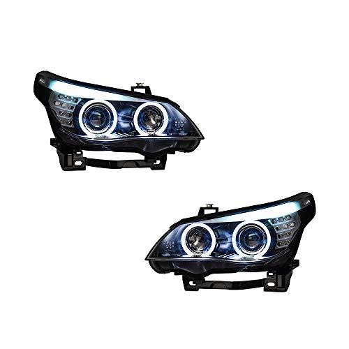 Scheinwerfer-Set für E60 2006–2010 Bi-Xenon-Linse, Projektor, Doppellicht, Xenon-HID-Kit mit LED-Tagfahrlichtern, 2 Stück