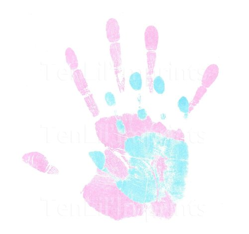 Mommy & Me Inkless Handprint and Footprint Kit by OC Trading
