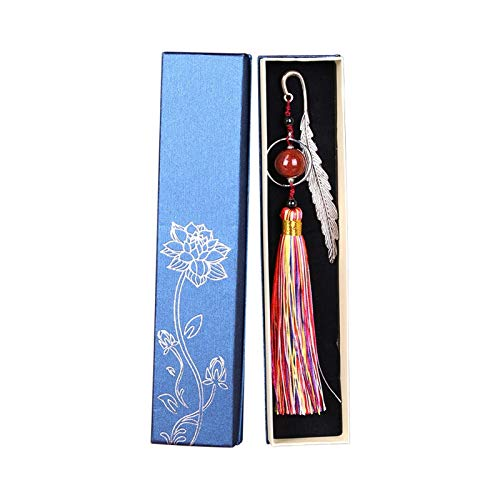 Book Markers Metal Bookmarks with Tassels and Beaded Bookmarks Retro Reading Page Markers,for Readers Students Kids Book Decorations Page Markers