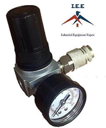 D27253 Craftman Air Compressor Regulator 4 Port Devilbiss w/ Gauge Quick Coupler