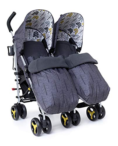Cosatto Supa Dupa Double/Twin Stroller – Pushchair from Birth,...
