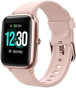 """Smartwatch, Fitness Tracker Uhr 1.3"""" HD Voll Touchscreen, Damen Herren Uhren Watch für Android IOS, IP68 Fitness Uhr mit Pulsmesser Schlafmonitor Stoppuhr Musiksteuerung, Sportuhr Aktivitätstracker"""