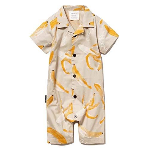 gelato pique baby ジェラートピケ ベビー 【BABY】フルーツモチーフ baby シャツロンパースpbfo202461/2020春夏 バナナ banana ジェラピケ 子供 赤ちゃん 誕生日 ギフト 贈り物 出産祝い ラッピング BEIG