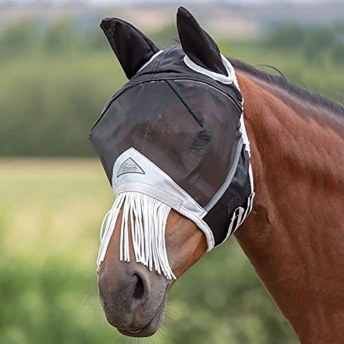 Shires Fliegenmaske Mit Nasenschutz - Schwarz - Gr. Pferd Xl