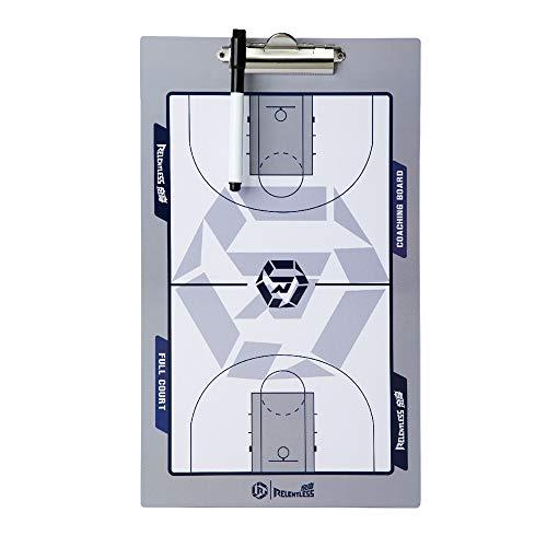 GJJSZ Tablero táctico de Baloncesto,Tablero de enseñanza portátil para Entrenador de Baloncesto Adecuado para Entrenamiento de Baloncesto y orientación didáctica 40 × 24 cm con Marcador de Pizarra