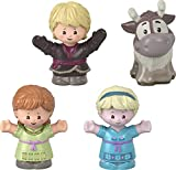 Fisher-Price Little People – Disney Frozen Young Anna and Elsa & Friends, set of 4 character figures for toddlers and preschool kids