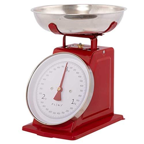 Plint - Báscula de cocina (metal), diseño retro, color rojo