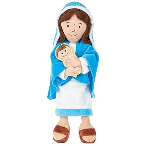 Hallmark Mother Mary Holding Baby Jesus Stuffed Doll, 12.75'