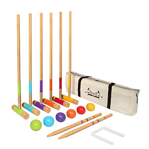 "GoSports Standard Croquet Set Includes Six 27"" Mallets"