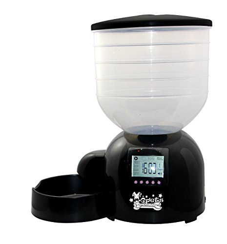 Qpets AF 200 Pet Feeder for Dogs Cats Automatic Programmable XX Large Black