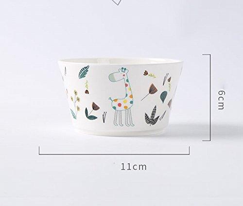 Bol de Riz Mignon Personnalité Créative Soupe en Céramique Bol Petit Bol Coréen Cartoon Enfants 'S de Vaisselle Vaisselle de Ménage Étudiant,C