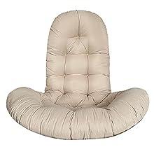 Watkings Cojín para silla de huevo, cojín para colgar en silla de hamaca, cojín grueso para muebles de jardín y oficina