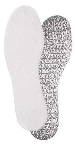 Unisex Alu Einlegesohlen mit Komfortwirkung 3 Lagen Aufbau Winter Schuheinlagen Aluminium (38-39)