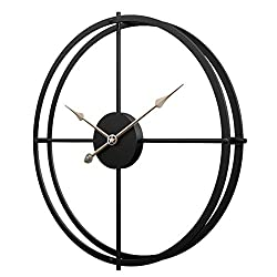 PeleusTech 24 inches Large Wall Clock Iron Art Wall Clock Silent Wall Clock for Decoration