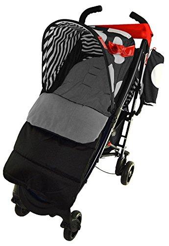 Fußsack/Cosy Toes kompatibel mit Maclaren Quest Sport Kinderwagen, Delfingrau