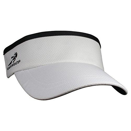 Headsweats Supervisor Sun/Race/Running/Outdoor Sports Visor, White, One Size