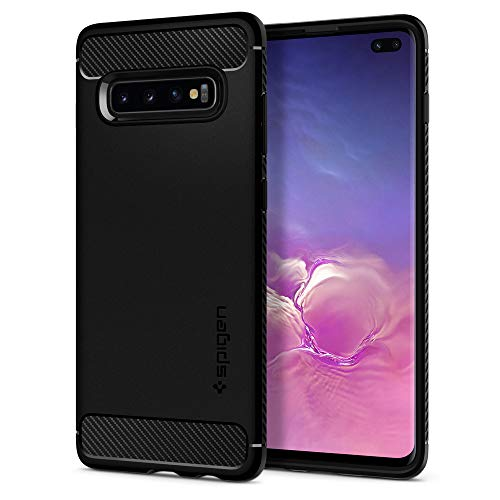 Spigen Cover Rugged Armor Compatibile con Samsung Galaxy S10 Plus - Nero