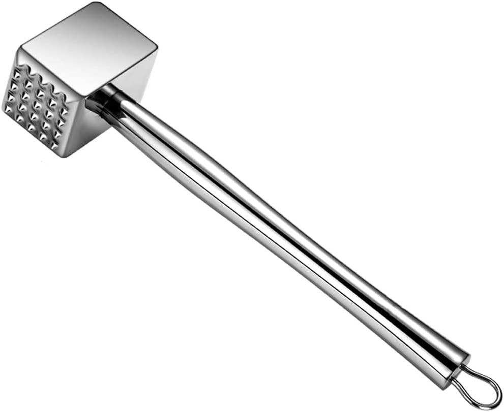 QVIVI Heavy Duty Meat lowest price Tenderiser Stainless 2021 Dou 304 Mallet Steel