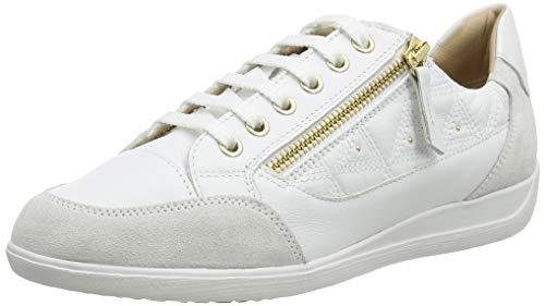 Geox D Myria C, Zapatillas Mujer, Blanco (White/Off White C1352), 37 EU