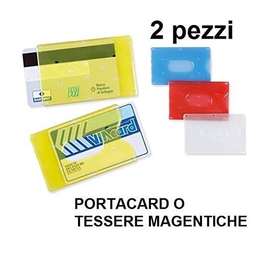 Porta tessere in plastica rigida (2 pezzi) per carte di credito e tessera magnetica