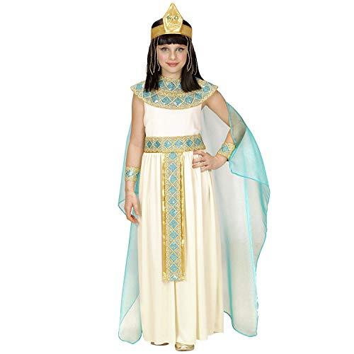 NET TOYS Elegante Disfraz de Egipto para nia - Marfil-Azul-Dorado 153 - 158 cm, 11 - 13 aos - Vestimenta Infantil Disfraz Infantil Cleopatra Fiesta de Disfraces y Festival Infantil