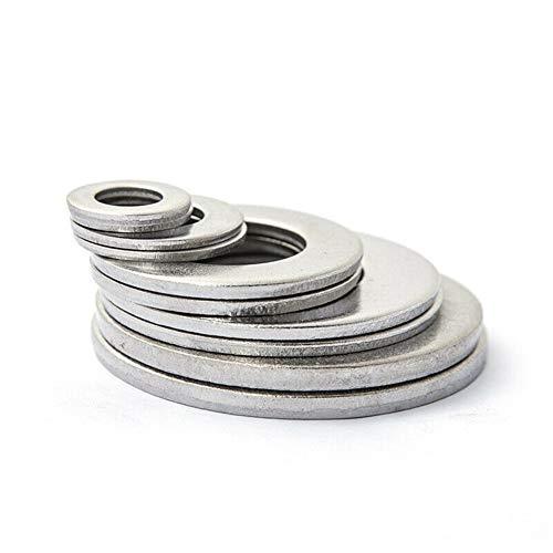 BAN SHUI JU MINSU GUANLI Accesorios Tornillos Juego De Pernos Arandelas Planas Coche con Caja Piezas Prácticas For Camiones Tornillos Duradero y Resistente (Color : Silver)