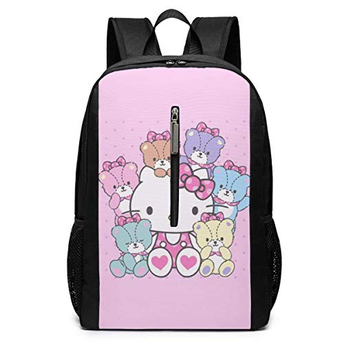 Backpack 17 Inch, Cartoon Kitty Large Laptop Bag Travel Hiking Daypack for Men Women School Work