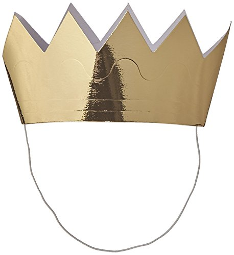 Creative Converting Mini Crowns - Gold (Value 18-Pack)