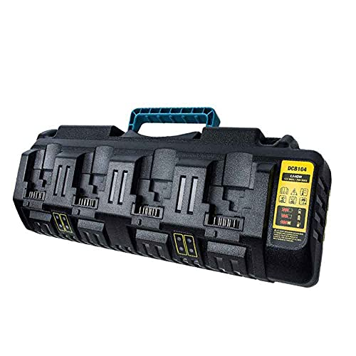 ATING Cargador Para DeWalt DCB104 18v 54v Flexvolt XR Cuatro Puertos Batería Rápida Li-ion