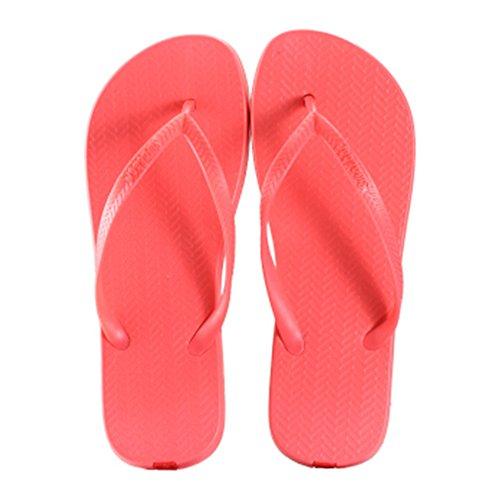 Casual Tongs Unisexe Plage Chaussons Anti-Slip Maison Slipper Pastèque rouge