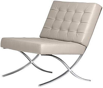 Amazon.com: Hebel Bellefonte Leather Pavilion Chair | Model ...