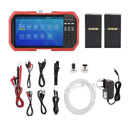 FTVOGUE DT-A86 Netzwerk-HD-Tester, TDR-Leitungsbruchpunkttest, Multimeter, Laserleistungsmesser, Multifunktionstester mit AC100-240V(EU Plug)