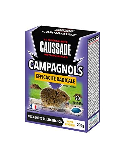 Caussade CARPT200 Campagnols-Pat Appât Efficacité Radicale, SECUVERD 27. AMM FR-2018-0103. Composition : Coumatétralyl 0,0027% m/m (Cas N°5836-29-3), Puissant, Appétent