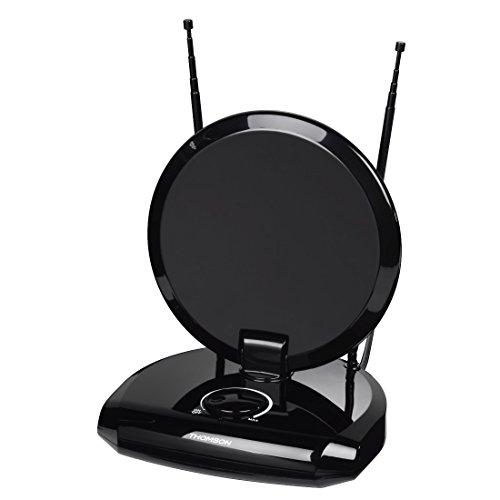 Thomson ANT1418 DVB-T/DVB-T2 kamerantenne voor radio/tv (digitale DVB-T/T2, DAB/DAB+ ontvangst, geschikt voor tv en FM-ontvanger/tuner, met 12 V-aansluiting voor auto)