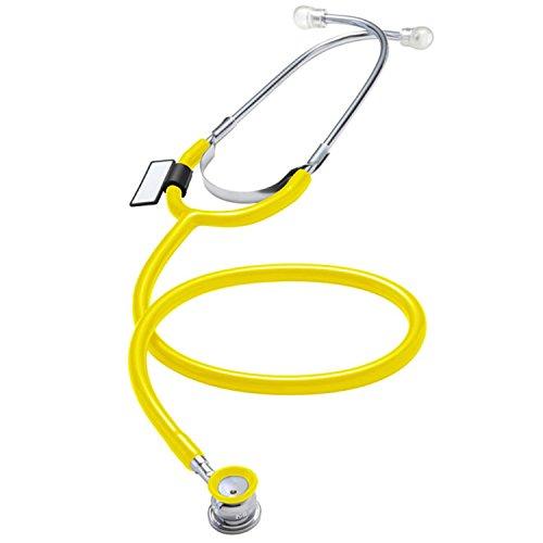 MDF® Singularis VIVO Zweikopf-Stethoskop, Einweg für Säuglinge und Neugeborene, 10er Packung - Gelb (MDF787E-28)