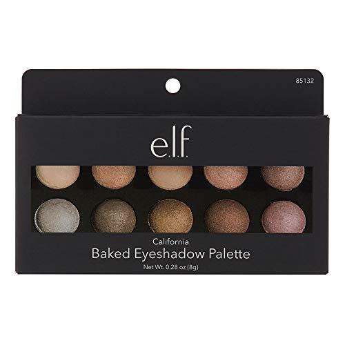 E.L.F. Baked Eyeshadow Palette Shimmer Eye Makeup