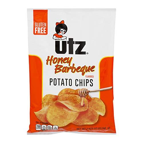 UTZ Honey Barbeque Potato Chips 2.875 oz Bags - Pack of 14