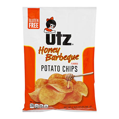 UTZ Honey Barbeque Potato Chips 2.875 oz Bags - Pack of 14