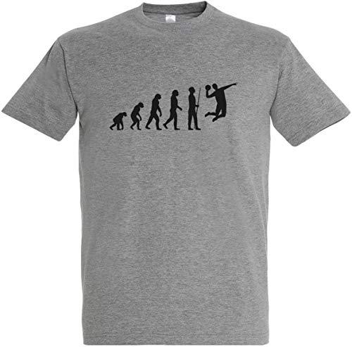 Herren T-Shirt Handball Evolution (3XL, Grau)