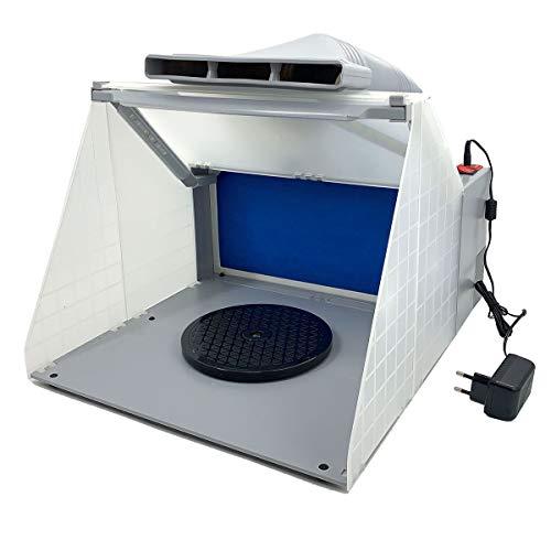 Cozyel Extractor de aerógrafo 4m³ / min Filtro de Color Vapor de Pintura para neblina de Pintura Filtro de Recambio de Aire Exterior Aerosol de Aire Exterior, con 3 Luz Led