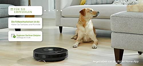 iRobot Roomba 671 Saugroboter (hohe Reinigungsleistung mit Dirt Detect, reinigt alle Hartböden und Teppiche, geeignet bei Tierhaaren, WLAN-fähig) schwarz