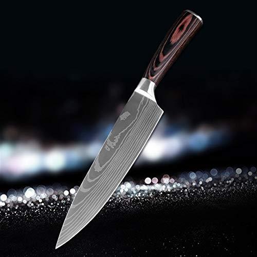 Cuchillos de cocina de 8'pulgadas Damasco patrón chef cuchillo afilado Santoku Cleaver Clicando la herramienta de cuchillos de utilidad Cuchillo para utensilios